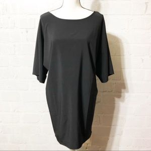 Lucy Black Shift Dress super cute   E38